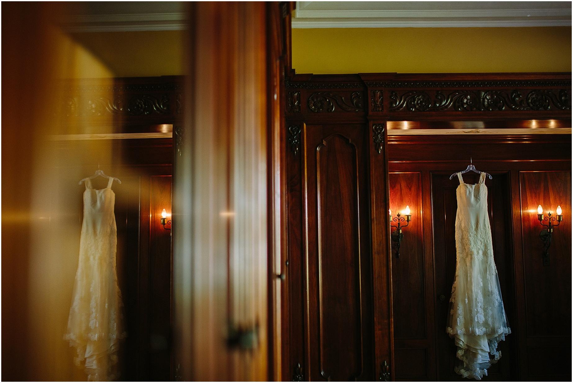 wedding dress at wattles mansion los angeles