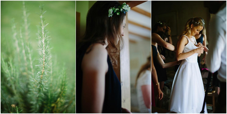preparatifs de la mariée au domaine de petiosse
