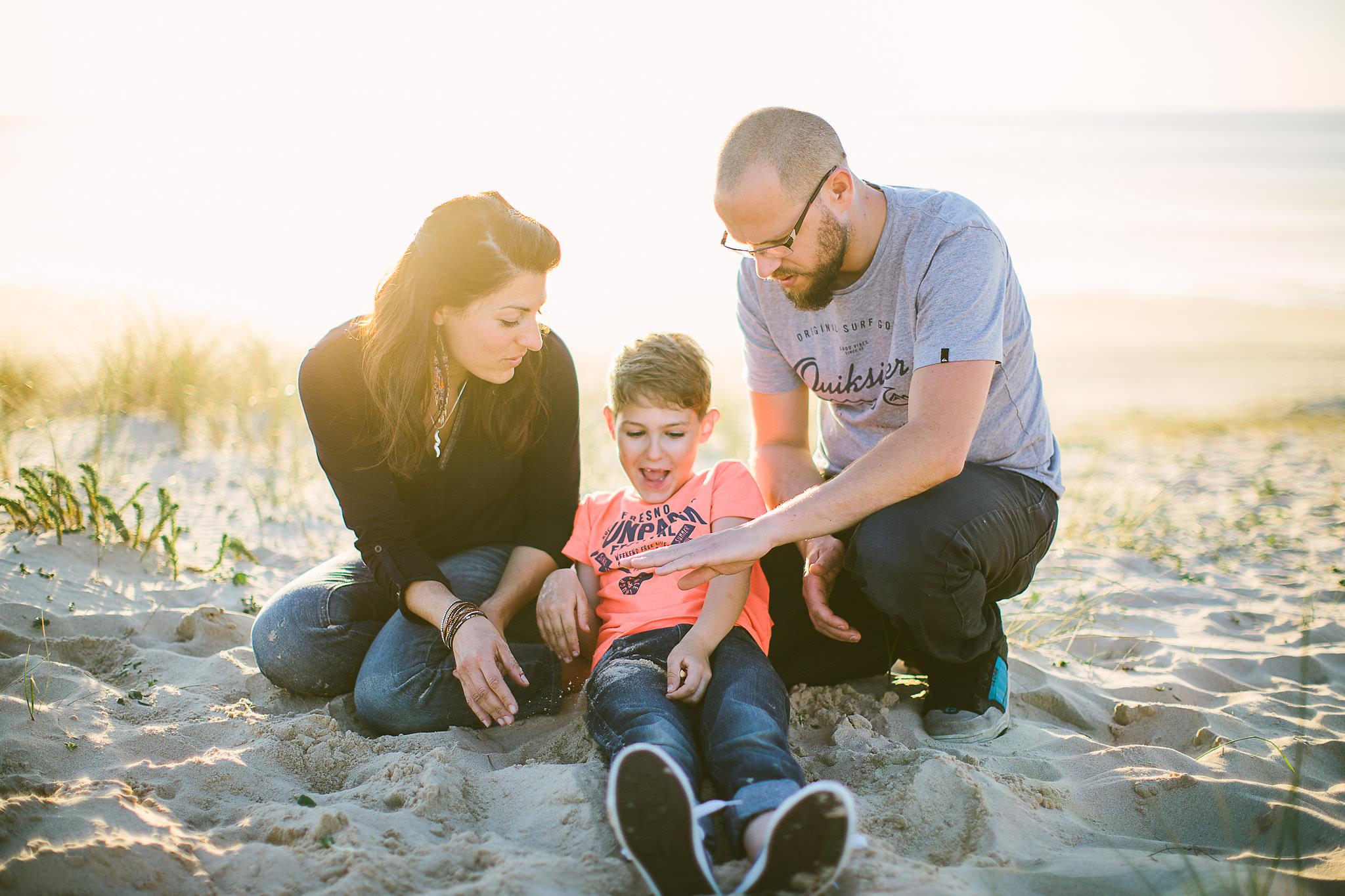 famille sur la dune de seignosse