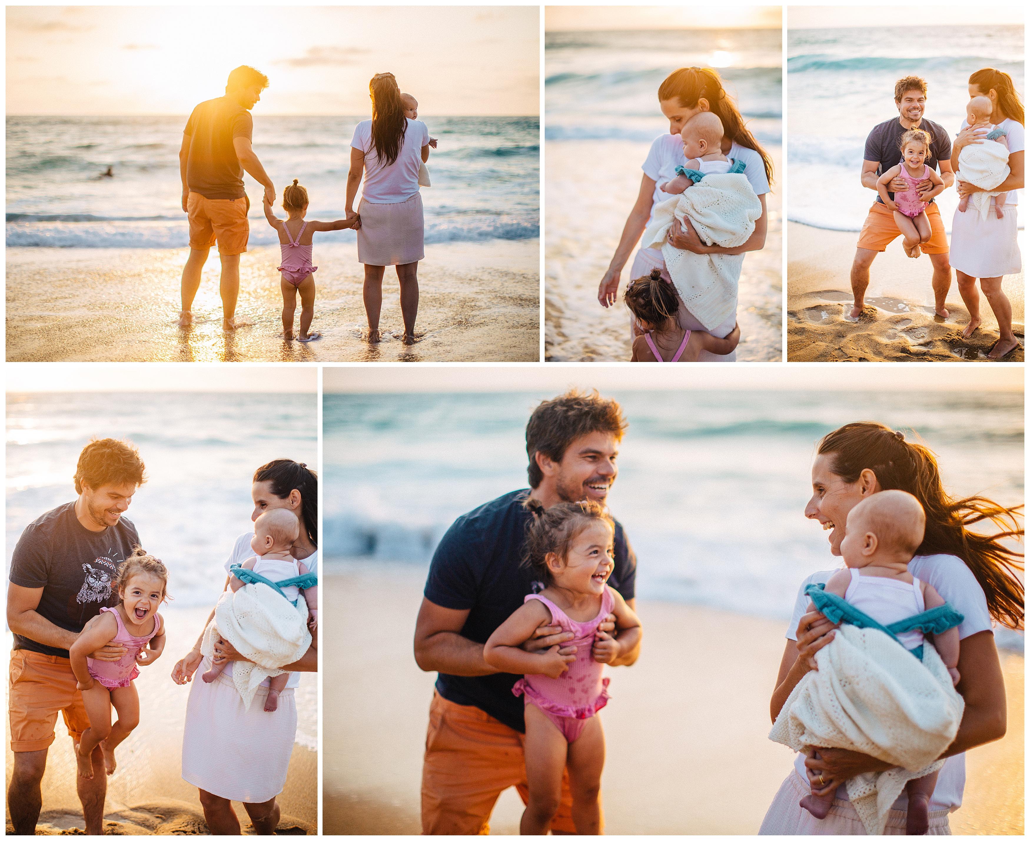 seance famille à hossegor sunset